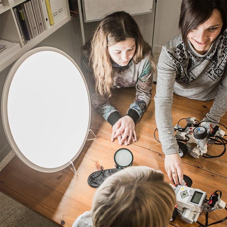 La Mezcla Fosfénica la luz aplicada a las técnicas de estudio